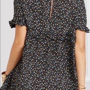 Suzanne Betro Tops - Black Floral 1x Tunic by Suzanne Betro